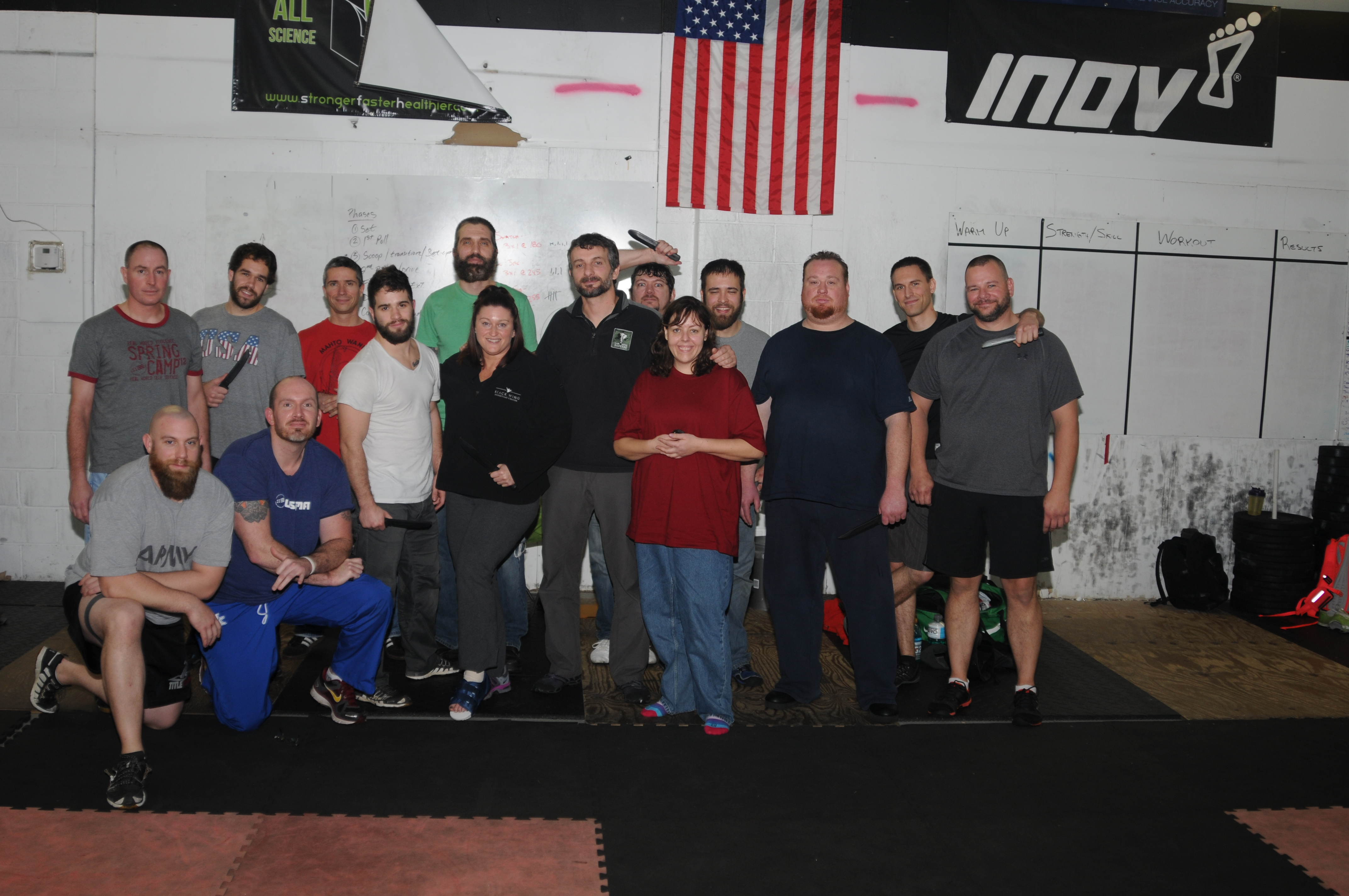 Alessandro Padovani and his studetns from the Safer Faster Defense Knife Class at Ohio Krav Maga